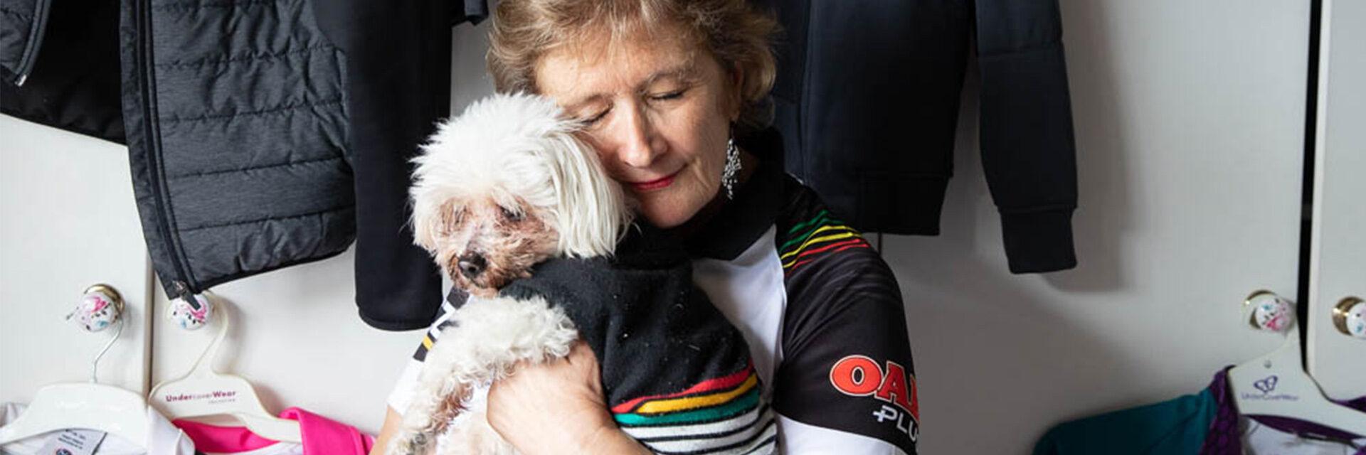 Sue and Dog Angel, Emu Plains